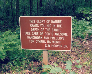 This Glory of Nature quote from GW Hoover SR