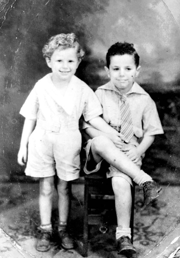 "Portrait of Walter ""Ret"" Turner, age 3, and brother Jerome Turner, age 6 - Marianna, Florida"